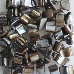 Shell Beads 5-12mm Grey 50 pieces for