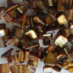 Shell Beads 5-12mm Cognac 50 pieces for