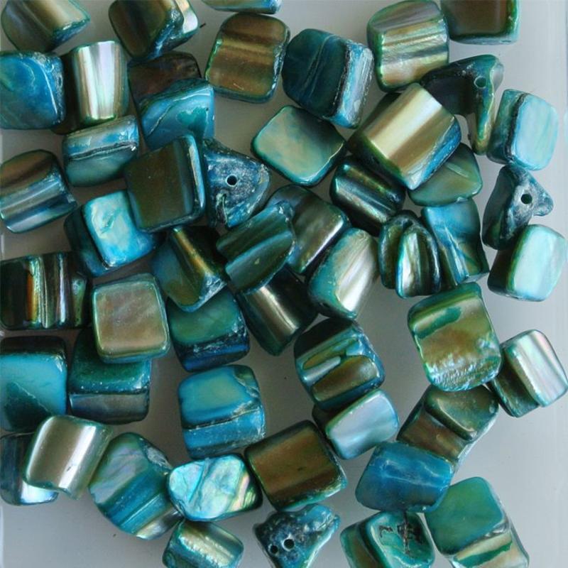 Schelpkralen 5-12mm Sea Blue 50 stuks voor