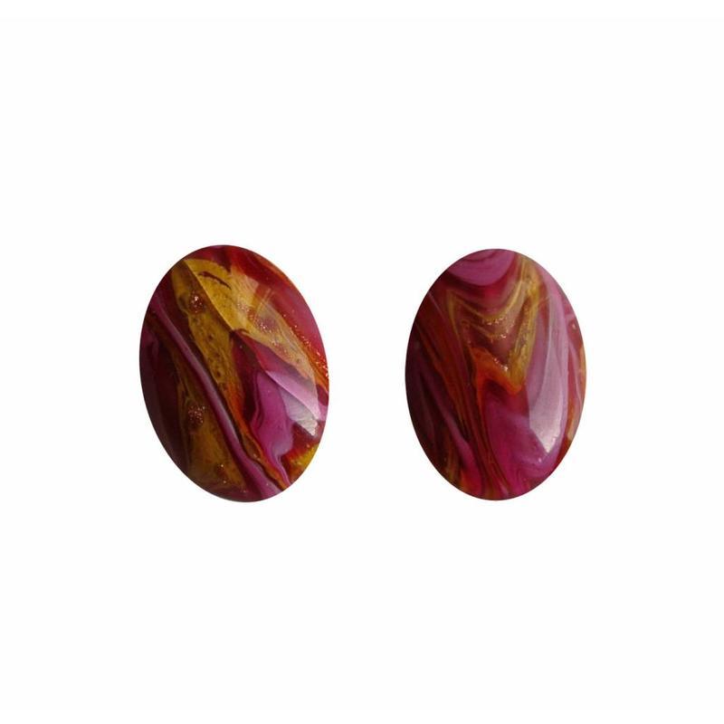 Cabochon oval. 13x18mm Handgemachte Böhmische Glas