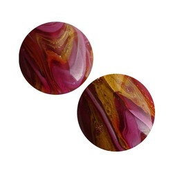 Cabochon Rond12mm Handmade Czech Glass
