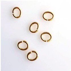 Oval Rings. Lasercut 3x5mm. Gold-colored.
