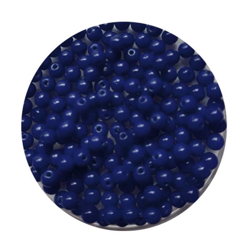 Glaskraal 3mm  Rond  Kobaltblauw 100 stuks voor.