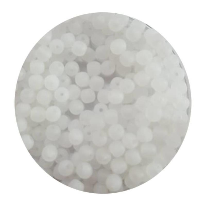 Glaskraal 3mm  Rond  Mat Crystal 100 stuks voor.