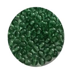 Glaskraal 4mm  Rond  Transparant Turmaline 100 stuks voor.