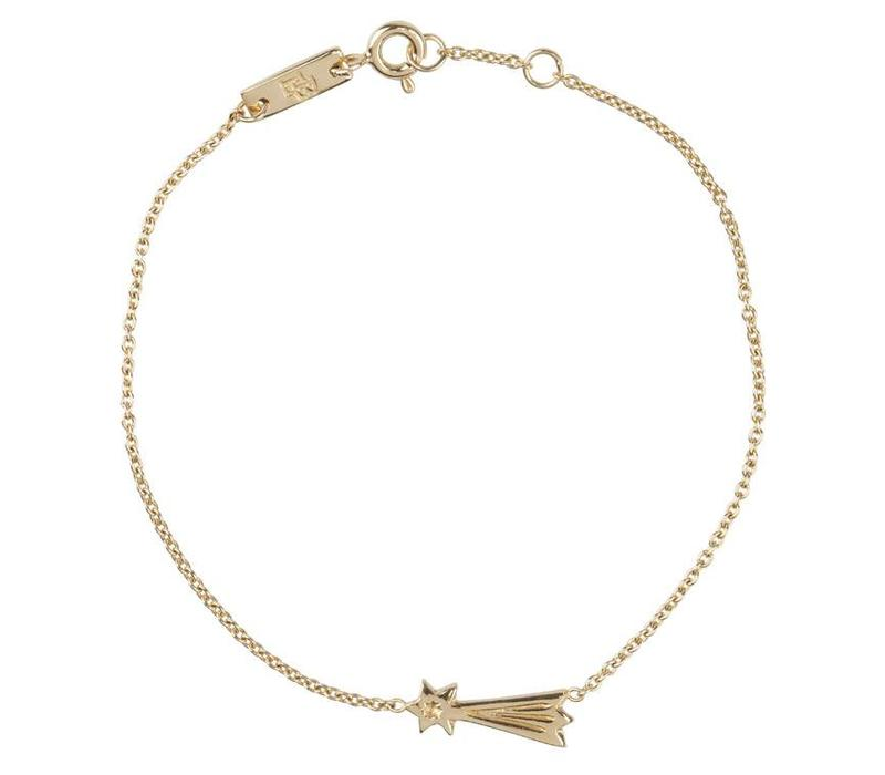You make my wishes come true gold (shooting star) – bracelet