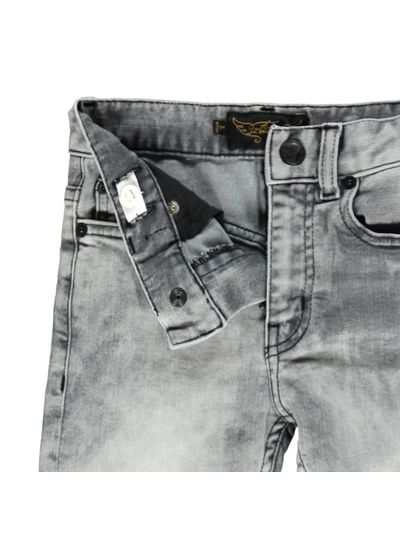 Finger in the nose NEW NORTON light black Boy Woven 5 Pockets Straight Fit Jeans