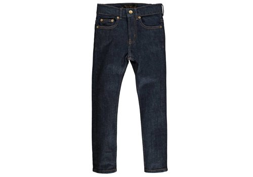 Finger in the nose NEW NORTON raw denim blue Boy Woven 5 Pockets Straight Fit Jeans