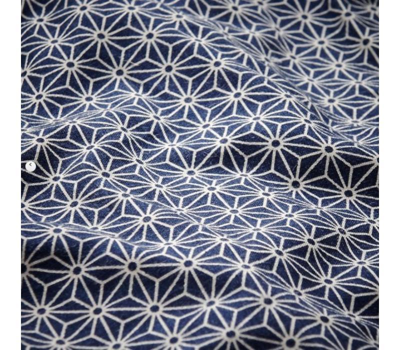 Changing Mat Sashiko Blue