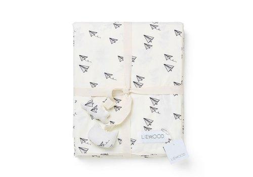 Liewood Liewood Bed Linnen Paper Plane Creme de la Creme