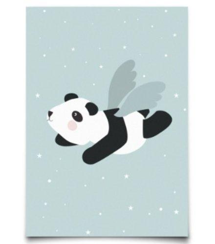 Eef Lillemor Postcard - Flying Panda