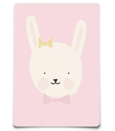 Eef Lillemor Postcar - Lovely Animals - miss Bunny