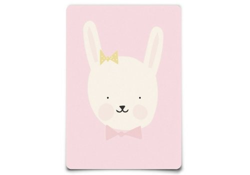 Eef Lillemor Postcar - Lovely Animals - miss Bunny