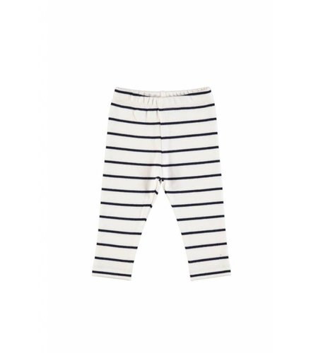 GRO Company GRO SAILOR LEGGINGS ECRU/ DARK NAVY