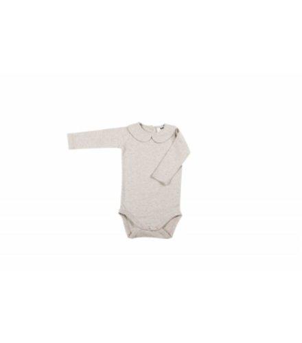 House of Jamie Girls Collar Bodysuit (Long Sleeve) - Stone