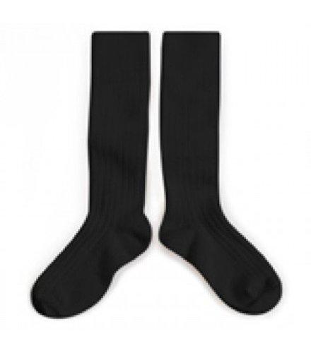 Collegien Knee socks - Noir de Charbon - Collégien