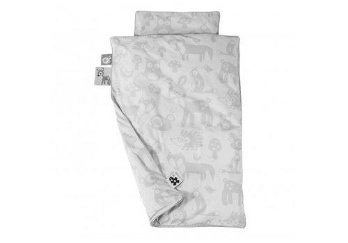 Sebra Bed linen, baby, Forest, grey junior 140 x 100 cm.