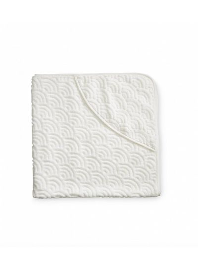 Cam Cam Copenhagen Hooded Baby Towel Off White GOTS