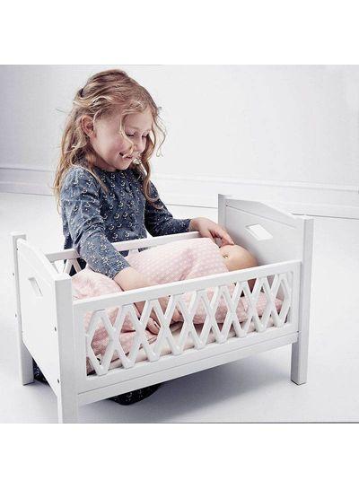 Cam Cam Copenhagen Harlequin Doll's Bed White