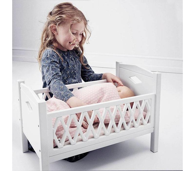 Harlequin Doll's Bed White