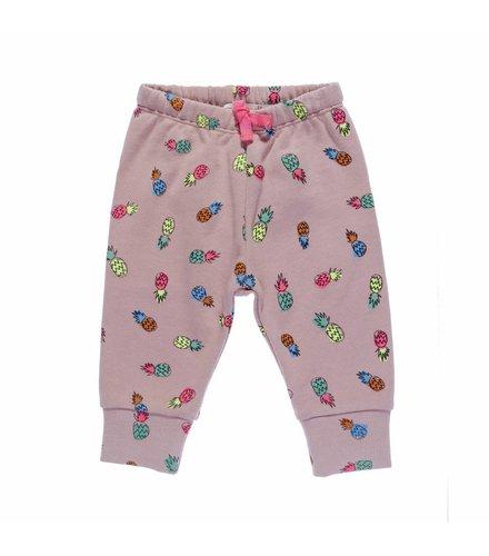 Stella McCartney Kids Tootsie, Jersey Trousers/Leggings Pineapple on Dusty Rose