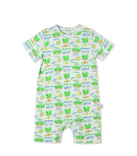 Stella McCartney Kids Kit Jersey Onesie / All in one Fluro Beach On Coconut Base