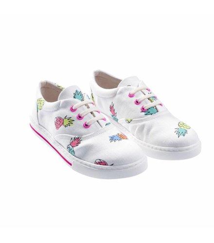 Stella McCartney Kids Rooster Shoes Pineapple Pr On Coconut Base