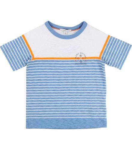 Little Marc Jacobs T- Shirt Manches Bleu Orange