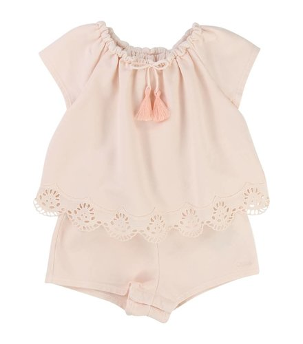 Chloé Combi-short Rose Pale
