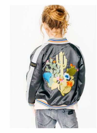 Finger in the nose PRETENDER Vulcano Cactus - Girl Woven Varsity Jacket