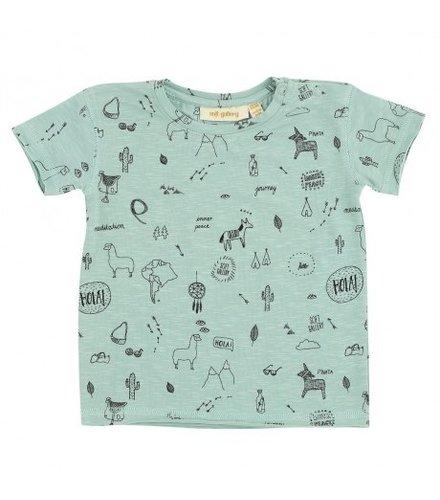 Soft Gallery Baby Ashton T-shirt Lichen, AOP Desert