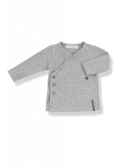1 + More in the Family Maria Newborn Shirt Grey