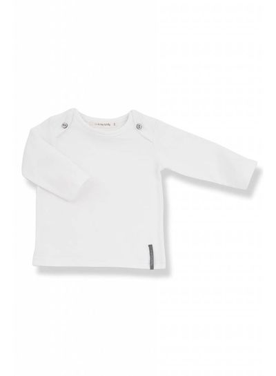 1 + More in the Family Norman Long Sleeve T-Shirt White