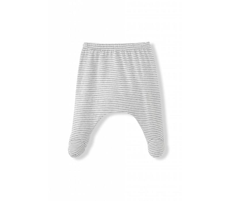 Nur Leggings W/Feet White/Grey
