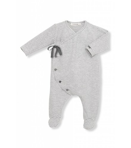 1 + More in the Family Adan Jumpsuit White/Grey