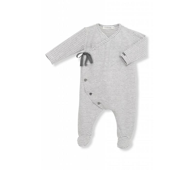 Adan Jumpsuit White/Grey