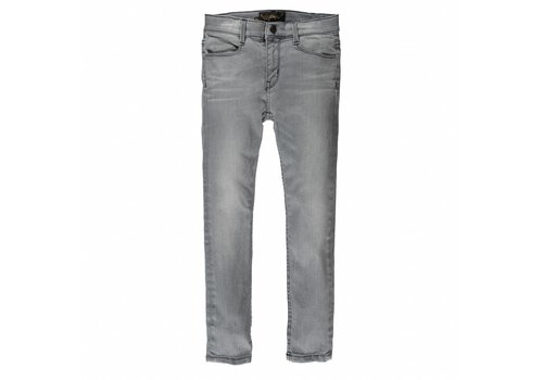 Finger in the nose TAMA Grey Denim Repaired - Unisex Woven Skinny Fit Jeans