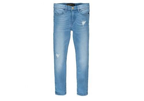 Finger in the nose TAMA Light Blue Repaired - Unisex Woven Skinny Fit Jeans