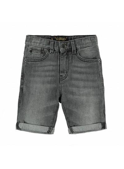 Finger in the nose EDMOND Grey Denim - Boy Woven 5 Pockets Comfort Fit Shorts