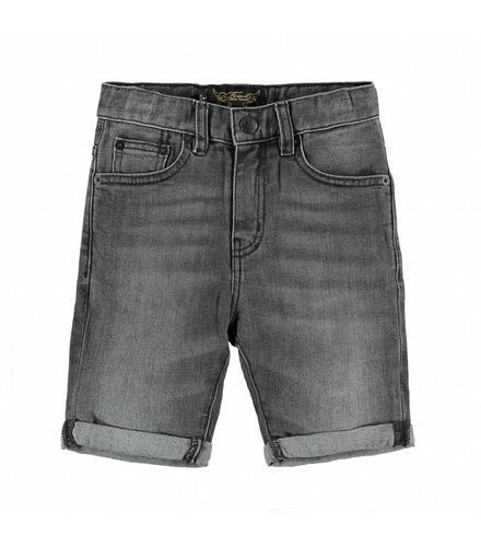 Finger in the nose EDMOND Grey Denim - Boy Woven 5 Pockets Comfort Fit Shorts