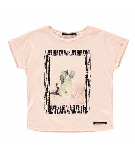 Finger in the nose NEW BRITNEY Flow Pink Cactus - Girl Knitted Short Sleeves T-Shirt