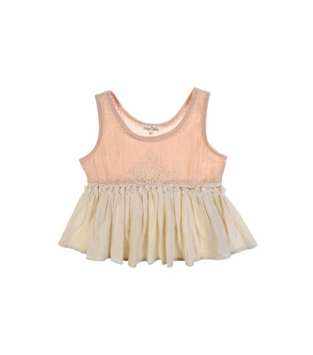 Louise Misha Pivoine Top Nude/White