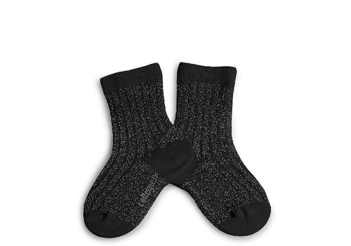 Collegien Lurex socks - NOIR DE CHARBON - Collégien