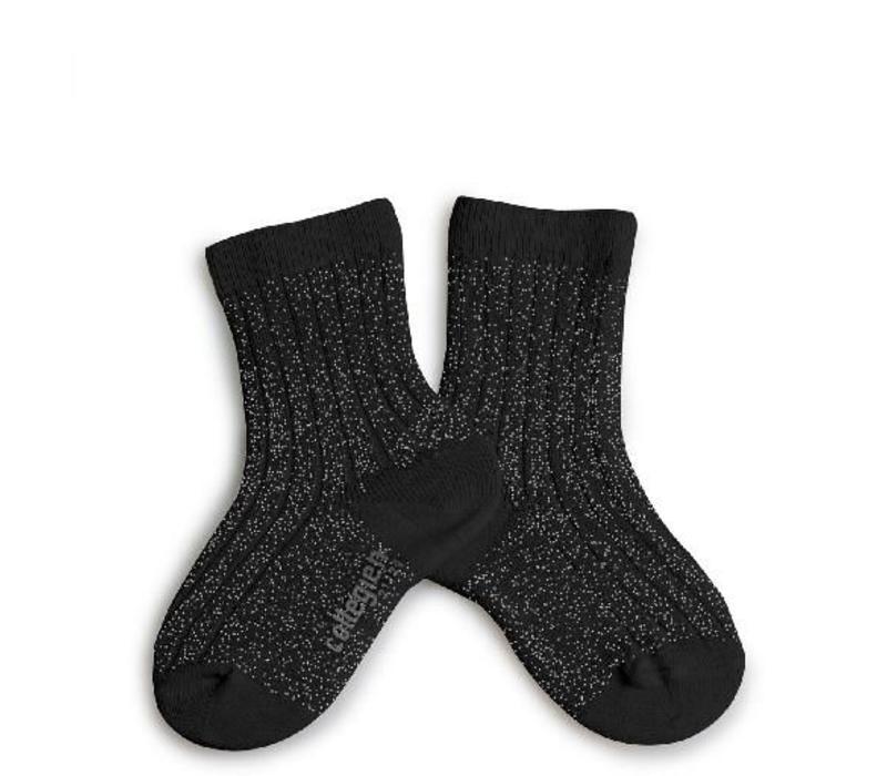 Lurex socks - NOIR DE CHARBON - Collégien