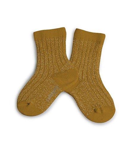 Collegien Lurex socks - MOUTARDE DE DIJON - Collégien