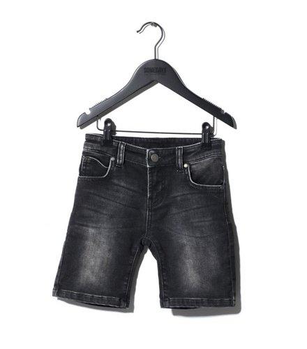 Someday Soon Carl Denim Shorts Washed Black
