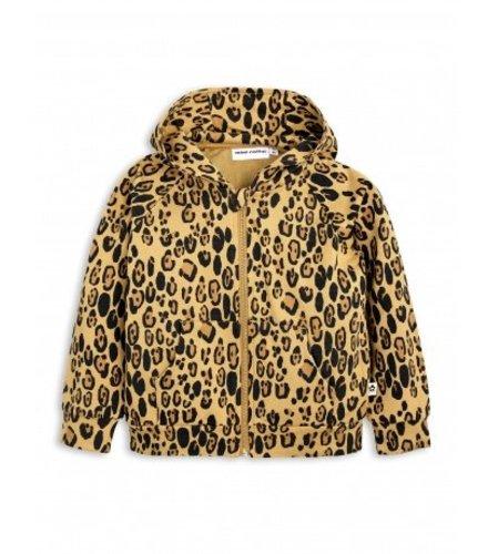 Mini Rodini Leopard Zip Hood Beige
