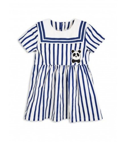 Mini Rodini Stripe Woven Sailor Dress Blue