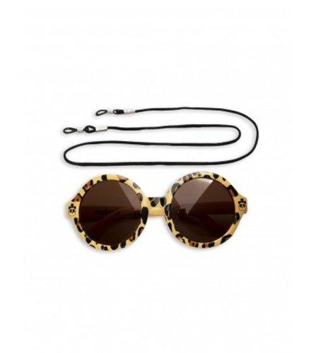 Mini Rodini Leopard Round Sunglasses Beige