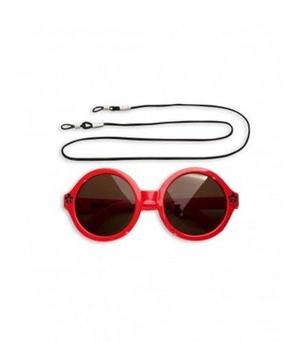 Mini Rodini Solid Round Sunglasses Red